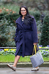 © Licensed to London News Pictures. 07/02/2017. London, UK. International Development Secretary Priti Patel arriving at Downing Street for a Cabinet meeting this morning. Photo credit : Tom Nicholson/LNP