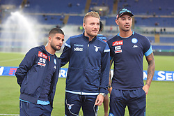 September 20, 2017 - Rome, Italy - Lorenzo Insigne and Ciro Immobile during the Italian Serie A football match S.S. Lazio vs S.S.C. Napoli at the Olympic Stadium in Rome, september on 21, 2017. (Credit Image: © Silvia Lore/NurPhoto via ZUMA Press)