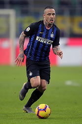 February 3, 2019 - Milan, Milan, Italy - Radja Nainggolan #14 of FC Internazionale Milano in action during the serie A match between FC Internazionale and Bologna FC at Stadio Giuseppe Meazza on February 3, 2019 in Milan, Italy. (Credit Image: © Giuseppe Cottini/NurPhoto via ZUMA Press)