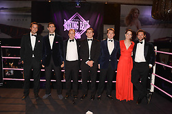 British fine jewellery brand Boodles welcomed guests for the 2013 Boodles Boxing Ball in aid of Starlight Children's Foundation held at the Grosvenor House Hotel, Park Lane, London on 21st September 2013.<br /> Picture Shows:- Left to right, Ball committee CHARLIE GILKES, HUGH VAN CUTSEM, JAMES AMOS, BEAR MCLEAN, ALEX MCEWEN, ALICE BEAUMONT and JEZ LAZSON.<br /> Press release - https://www.dropbox.com/s/a3pygc5img14bxk/BBB_2013_press_release.pdf<br /> <br /> For Quotes  on the event call James Amos on 07747 615 003 or email jamesamos@boodles.com. For all other press enquiries please contact luciaroberts@boodles.com (0788 038 3003)