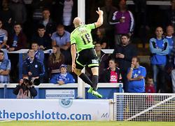 Conor Sammon of Sheffield United celebrates scoring - Mandatory byline: Joe Dent/JMP - 07966386802 - 18/08/2015 - FOOTBALL - ABAX Stadium -Peterborough,England - Peterborough United v Sheffield United - Sky Bet League One