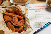 Fifteen El Jefe wings from Fire On the Mountain comes with a waiver form.