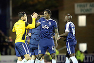 Southend United striker Nile Ranger (50) celebrates win during the EFL Sky Bet League 1 match between Southend United and Bradford City at Roots Hall, Southend, England on 19 November 2016. Photo by Matthew Redman.
