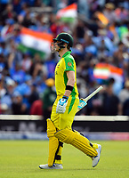 Cricket - 2019 ICC Cricket World Cup - Group Stage: India vs. Australia<br /> <br /> Australia's Steve Smith dismissed for 69 by India's Bhuvneshwar Kumar after a DRS referral for lbw, at The Kia Oval.<br /> <br /> COLORSPORT/ASHLEY WESTERN