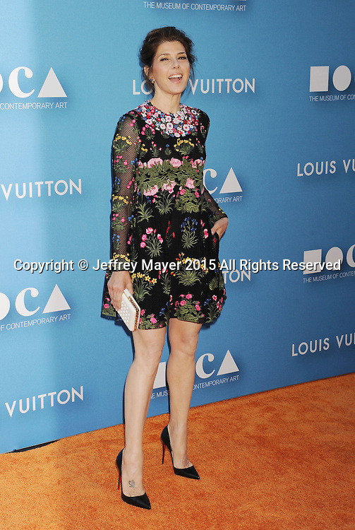 LOS ANGELES, CA - MAY 30:  Actress Marisa Tomei arrives at the 2015 MOCA Gala presented by Louis Vuitton at The Geffen Contemporary at MOCA on May 30, 2015 in Los Angeles, California.