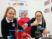 27/11/2016 REPRO FREE:  <br /> Caoimhe Donoghue, Katie Creaven and Ava Deeley, New Inn, in NUI Galway for the exhibition and fun day of the Galway Science & Technology Festival. <br /> Photo: Andrew Downes, Xposure.
