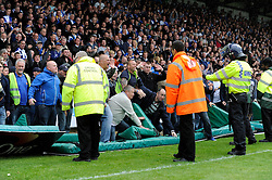 Bristol Rovers fans cause trouble as Bristol Rovers win 1 - 2 against Wycombe Wanderers - Photo mandatory by-line: Dougie Allward/JMP - Mobile: 07966 386802 26/04/2014 - SPORT - FOOTBALL - High Wycombe - Adams Park - Wycombe Wanderers v Bristol Rovers - Sky Bet League Two