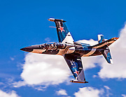 """L-39 """"Drakon"""", flown by Jeff Turney of Reno, Nevada races for the Gold on Sunday at Reno."""