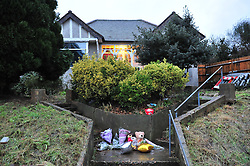 © Licensed to London News Pictures. 07/01/2016<br /> Flowers outside house this morning.<br /> Ex-Eastenders actress Sian Blake's home in Erith,Kent has turned into a crime scene (07.01.2016) with officers from the Met's Homicide and Major Crime Command leading the murder investigation.<br /> <br /> (Byline:Grant Falvey/LNP)