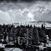 Glacier National Park from the train. Edited & converted to B&W 2/7/15