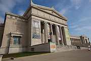 Field Museum of Natural History south entrance along Lake Michigan in Chicago USA
