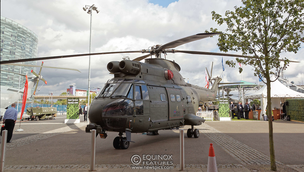 London, United Kingdom - 15 September 2015<br /> Military, technology, defence and weapons companies exhibiting at the annual defence and security exhibition DSEI at ExCeL, Woolwich, London, England, UK.<br /> (photo by: EQUINOXFEATURES.COM)<br /> <br /> Picture Data:<br /> Photographer: Equinox Features<br /> Copyright: ©2015 Equinox Licensing Ltd. +448700 780000<br /> Contact: Equinox Features<br /> Date Taken: 20150915<br /> Time Taken: 14525088<br /> www.newspics.com