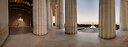 Panorama of Lincoln Memorial looking toward the Washington Monument. <br /> Image Captured in 2012.<br /> Print Size (in inches): 15x5.5; 24x9; 36x13; 48x17.5; 60x22; 72x26.5