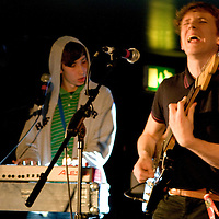 Flashguns perform live at In The City, Bar 38, Manchester, UK, 2008-10-06