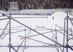 30.01.2019, Seefeld, AUT, FIS Weltmeisterschaften Ski Nordisch, Seefeld 2019, im Bild Tribünen im Langlaufstadion // Stands in the cross-country stadium before the FIS Nordic Ski World Championships Seefeld 2019 in Seefeld, Austria on 2019/01/30. EXPA Pictures © 2019, PhotoCredit: EXPA/ JFK