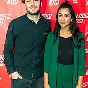 NLD/Amsterdam/20190111 - Top 40 launch Party, Hila Noorzai en Joost Swinkels