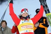 Marit Bjoergen (NOR) gewinnt den Free Sprint. (Werner Schaerer/EQ Images)