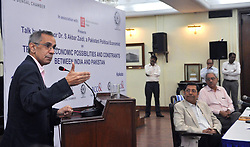 """June 10, 2017 - Kolkata, West Bengal, India - Speech of professor S Akbar Zaidi, Pakistani Political Economist on """"Trade and Economic Possibilities and Constraints between India & Pakistan"""" organized by The Bengal Chamber of Commerce and Industry in Kolkata on June 10, 2017. (Credit Image: © Saikat Paul/Pacific Press via ZUMA Wire)"""