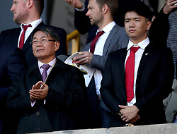 Southampton owner co-owner Gao Jisheng (left) in the stands during the Premier League match at Molineux, Wolverhampton.