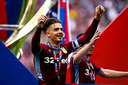 Jack Grealish of Aston Villa celebrates winning promotion to the Premier League after beating Derby County in the Sky Bet Championship Playoff Final - Mandatory by-line: Robbie Stephenson/JMP - 27/05/2019 - FOOTBALL - Wembley Stadium - London, England - Aston Villa v Derby County - Sky Bet Championship Play-off Final