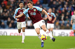 Burnley's Chris Wood during the Premier League match at Turf Moor, Burnley.