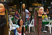 Hair stylists, Khao San Road for backpackers
