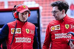 March 1, 2019 - Barcelona, Barcelona, Spain - Mattia Binotto  Ferrari Team Chief talking with John Elkann CEO of Exor portrait during the Formula 1 2019 Pre-Season Tests at Circuit de Barcelona - Catalunya in Montmelo, Spain on March 1. (Credit Image: © Xavier Bonilla/NurPhoto via ZUMA Press)