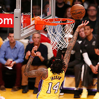 09 January 2018: Los Angeles Lakers forward Brandon Ingram (14) goes for the layup during the LA Lakers 99-86 victory over the Sacramento Kings, at the Staples Center, Los Angeles, California, USA.