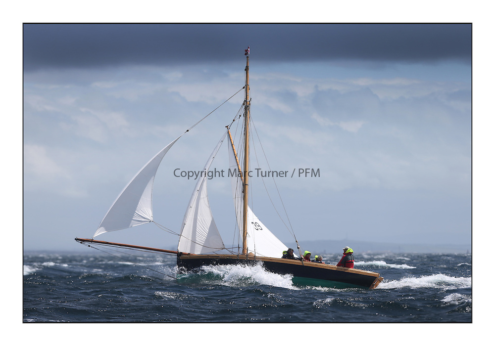 Day five of the Fife Regatta, Race from Portavadie on Loch Fyne to Largs. <br /> Ayrshire Lass, Paul Goss / Theo Rye, GBR, Gaff Cutter, Wm Fife 2nd, 1887<br /> <br /> <br /> * The William Fife designed Yachts return to the birthplace of these historic yachts, the Scotland's pre-eminent yacht designer and builder for the 4th Fife Regatta on the Clyde 28th June–5th July 2013<br /> <br /> More information is available on the website: www.fiferegatta.com