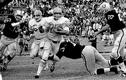 Oakland Raiders vs Houston Oilers playing at Frank Youell field in downtown Oakland..Ode Burrell and Bob Talamini, and Raiders Dan Birdwell,and Ike Lassiter...(1964)<br /> photo/Ron Riesterer