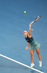 MELBOURNE, Jan. 16, 2019  Angelique Kerber of Germany serves the ball during the women's singles second round match against Beatriz Haddad Maia of Brazil at the Australian Open in Melbourne, Australia, Jan. 16, 2019. (Credit Image: © Bai Xuefei/Xinhua via ZUMA Wire)