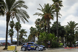 October 7, 2017 - Salou, Spain - The Estonian driver, Ott Tnak and his co-driver Martin Jrveoja of M-Sport World Rally Team, driving his Ford Fiesta WRC at Salou special stage, during the second day of the Rally Racc Catalunya Costa Daurada, on October 7, 2017 in Salou, Spain. (Credit Image: © Joan Cros/NurPhoto via ZUMA Press)