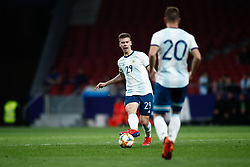 March 22, 2019 - Madrid, MADRID, SPAIN - Juan Foyth of Argentina during the international friendly football match played between Argentina and Venezuela at Wanda Metropolitano Stadium in Madrid, Spain, on March 22, 2019. (Credit Image: © AFP7 via ZUMA Wire)