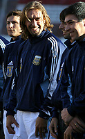 09/07/03 - THE CELEBRATION OF THE 25th ANNIVERSARY OF THE WORLD CUP FIFA 1978 , WHERE AGENTINA  WON  - ARGENTINA.<br /> The celebration was a friendly match  that assemble different players generations of the argentinean national selection team. <br /> The argentinean players Zanetti, Batistuta, Ayala and  Basualdo.<br /> ©A.K/Argenpress.com