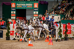 CHARDON Bram (NED), Dreef Inca, Dreef Kapitany, Favory Farao, Favory Xxxi-45-2-6, Siglavy Capriola Beni<br /> Leipzig - Partner Pferd 2020<br /> Sparkassen-Trophy<br /> FEI Driving World Cup™ <br /> Einlaufprüfung zum FEI World Cup Prüfung - Vierspänner<br /> Zeithindernisfahren, international<br /> 17. Januar 2020<br /> © www.sportfotos-lafrentz.de/Stefan Lafrentz