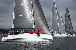 25th Anniversary of Kip Regatta<br /> <br /> - Yachting<br /> <br /> Stevie Cowie and his team onboard Zephyr, a First 40 at the start of the second race in light airs.