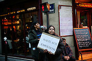 Demonstration by various Roma communities from the Paris Banlieu suburbs. Paris, France<br /><br />Roma East European migrants demonstrate and march through the streets of Paris and Paris Banlieu. Sick of persecution, racism and suffering, they wish to be able to live in a proper home, send their children to school,  the right to work.To be recognised as european citizens with equal opportunities for work, education and a healthy lifestyle.
