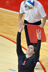 17 October 2014:  Emily Orrick during an NCAA Missouri Valley Conference (MVC) womens volleyball match between the Northern Iowa Panthers and the Illinois State Redbirds for 1st place in the conference at Redbird Arena in Normal IL
