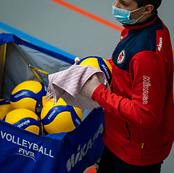Mikasa ball covid cleaning during the league match Taurus - Amysoft Lycurgus on January 16, 2021 in Houten.