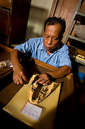 Reconstructing a baby dwarf Stegodon jaw found in association with Homo floresienss remains and stone tools at Liang Bua case, Fores.  It seems that hobbit preferentially hunted very yound and neonatal animals.