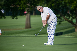 August 10, 2018 - Town And Country, Missouri, U.S - JOHN DALY from Dardanelle Arkansas, USA putts on the fourth green during round two of the 100th PGA Championship on Friday, August 10, 2018, held at Bellerive Country Club in Town and Country, MO (Photo credit Richard Ulreich / ZUMA Press) (Credit Image: © Richard Ulreich via ZUMA Wire)