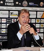 Pesaro , 06/03/2012<br /> Basket, conferenza stampa presentazione all star game 2012<br /> Nella foto: dino meneghin<br /> Foto Ciamillo