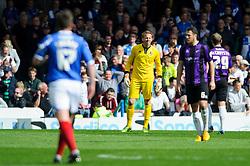 Steve Mildenhall (ENG) of Bristol Rovers looks dejected as Portsmouth get a second goal - Photo mandatory by-line: Rogan Thomson/JMP - 07966 386802 - 19/04/2014 - SPORT - FOOTBALL - Fratton Park, Portsmouth - Portsmouth FC v Bristol Rovers - Sky Bet Football League 2.
