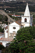view from medieval village of Obidos, with castle walls that encircle the town, .Paulo Cunha/4see