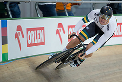 March 2, 2019 - Pruszkow, Poland - Matthew Glaetzer of Australia competes in the Men's sprint qualifying race on day four of the UCI Track Cycling World Championships held in the BGZ BNP Paribas Velodrome Arena on March 02 2019 in Pruszkow, Poland. (Credit Image: © Foto Olimpik/NurPhoto via ZUMA Press)