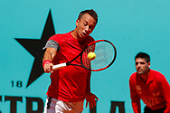 Philipp Kohlschreiber of Germany in action during the Mutua Madrid Open 2018, tennis match on May 9, 2018 played at Caja Magica in Madrid, Spain - Photo Oscar J Barroso / SpainProSportsImages / DPPI / ProSportsImages / DPPI