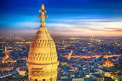 Vista aérea de Paris, a partir da Basílica de Sacré Cœur, no alto da colina de Montmartre com a Torre Eiffel ao fundo. FOTO: Jefferson Bernardes/ Agência Preview