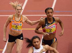 06-03-2015 CZE: European Athletics Indoor Championships, Prague<br /> Anouk Vetter op de 800 meter van de meerkamp. Vetter wordt uiteindelijk 8ste op de meerkamp