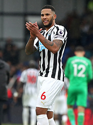 Newcastle United's Jamaal Lascelles applauds the fans at the end of the Premier League match at Selhurst Park, London.
