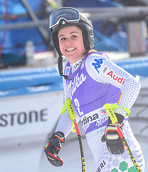 19.01.2019, Olympia delle Tofane, Cortina d Ampezzo, ITA, FIS Weltcup Ski Alpin, Abfahrt, Damen, im Bild Nicol Delago (ITA) // Nicol Delago of Italy reacts after her run in the ladie's Downhill of FIS ski alpine world cup at the Olympia delle Tofane in Cortina d Ampezzo, Italy on 2019/01/19. EXPA Pictures © 2019, PhotoCredit: EXPA/ Erich Spiess